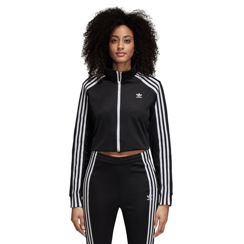 WOMEN'S ADIDAS ORIGINALS CROPPED TRACK TOP